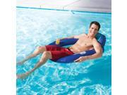 """42"""""""" Blue and Aqua Swimming Pool Spring Float SunSeat with Backrest and Cup Holder"""" 9SIA09A5HC5731"""