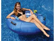 "48"""" Blue Camouflage Sumo-Sized Inflatable Water or Swimming Pool Sport Tube with Cup Holder"" 9SIV1JB6Y12616"