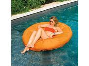 "55"""" Vibrant Orange SunSoft Island Circular Inflatable Swimming Pool Float"" 9SIV1JB6YB1044"