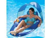 """56"""""""" Blue and Aqua Swimming Pool Spring Float Recliner with Canopy"""" 9SIV1JB6Y05247"""
