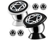 Magnetic Car Cell Phone Mount,KEKU 2Pack Smartphones Holder Dashboard for iPhone 7 6 6s plus 5 5s SE, Samsung Galaxy S8 Edge S7 S6 Note5,Nexus 6 ,GPS or Portabl