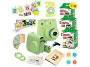 Fujifilm Instax Mini 9 Instant Camera LIME GREEN w/ Fujifilm Instax Mini 9 Instant Films (60 Pack) + A14 Pc Deluxe Bundle For Fujifilm Instax Mini 9 Camera