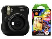 Fujifilm Instax Mini 26 + Rainbow Film Bundle - Black