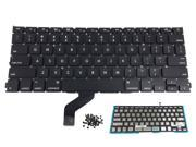 Authentic New Apple MacBook Retina 13 inch A1425 US Keyboard with Backlight module + Free 80pcs Rivet Screws (Year 2012, Early 2013) Ships from US