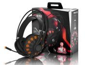 SOMIC G932 USB PC Gaming Headset With Virtual 7.1 Surround Sound,Over Ear Computer Gaming Headphones With LED lighting and Retractable Microphone
