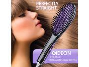 Gideon Heated Hair Brush Straightener - Amazing and Innovative, Salon Quality Straight Hair in Minutes
