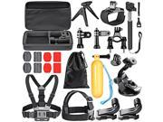 Neewer 21-in-1 Sport Accessory Kit for GoPro Hero4 Session Hero1 2 3 3 + 4 SJ4000 5000 6000 7000 Xiaomi Yi for Multi Outdoor Sports