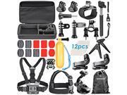 Neewer 31-In-1 Essential Outdoor Sport Accessory Kit for GoPro HD Hero4 Black/Silver Hero 4 3+ 3 2 1, SJ4000
