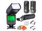 Neewer *High Speed Sync* E-TTL Camera Master/Slave Flash Kit for Canon EOS 5D Mark III ,and Other Canon DSLR Cameras, includes: (1)NW982C-II Flash, (1)Diffuser,(1)3-in-1 2.4Ghz Wireless Flash Trigge