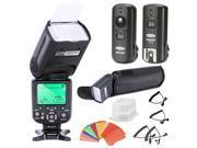 Neewer® Triopo E-TTL CANON I-TTL NIKON Speedlite Camera Flash Kit for * BOTH* Canon & Nikon Digital SLR Cameras *High Speed Sync* Rebel SL1 XT Xti Xsi T1i T2i T3i T4i T5i XS T3i EOS 5D Mark II 2