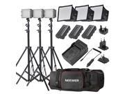 Neewer CN-160 Ultra High Power Panel Dimmable LED Video Light Kit with Large Deluxe Bag to Carry All Lights& Accessories for Canon, Nikon, Sony and Other Digita