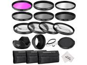 Neewer 58MM Complete Lens Filter Accessory Kit for CANON EOS REBEL 700D 650D 600D 550D(T5i T4i T3i T2i):UV,CPL,FLD+Macro Close-up Filters(+1,+2,+4,+10)+ND Neutral Density Filters(ND2,ND4,ND8)