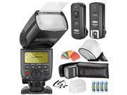 Neewer® Meike MK580 E-TLL/E-TTL II LCD Display Speedlite Master/Slave Flash Speedlite Kit for Canon Digital SLR Cameras, such as EOS 5D Mark III , 5D Mark II, 1Ds Mark 6D, 5D, 7D, 60D, 50D, 40D, 30D