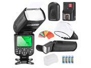 Neewer®Triopo *High Speed Sync* E-TTL Camera Master/Slave Flash Kit for Canon EOS 5D Mark III, 5D Mark II, 1Ds Mark 6D, 5D, 7D, 60D, 50D, 40D, 30D, 300D, 100D, 350D, 400D, 450D, 500D, 550D and more