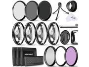 Neewer 58MM Camera Lens Filter Kit Includes 58MM Close up Filters(+1 +2 +4 +10),ND Filters(ND2 ND4 ND8) and UV CPL FLD Filters,Lens Hood and Other Accessories f