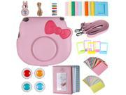 Neewer 25-in-1 Camera Accessory Kit for Fujifilm Instax Hello Kitty Instant Film Camera, Includes: Camera Case with Adjustable Strap, Various Frames, Book Album