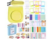 Neewer 56-in-1 Accessory Kit for Fujifilm Instax Mini 70 (Yellow),Includes: Camera Case with Adjustable Strap, Various Frames, Book Album, Color Filters, Corner