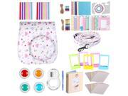 Neewer White 34-in-1 Accessories Kit for Fujifilm Instax Mini 8/8s: Case/ Album/ Selfie Lens/ Colored Filter/ Table Frame/ Wall Hanging Frame/ Border Sticker/ C