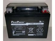 (1) FirstPower FPM4-12 AGM for AGM Maintenance Free Battery