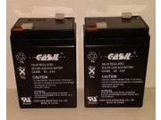 (2)  6v 5ah Casil for APC BACKUPS 200 Battery