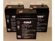 (3)  6v 5ah Casil Unison Battery DP1000 Battery