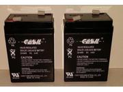 (2) 6V 4AH CASIL CA640 for Replaces Elgar IPS400 Battery