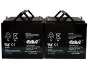 (2) 12v 55ah Group 22NF Power Wheelchair Battery for PowerCell PC12500 MK ES40-