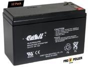 (12) CASIL 12V 7AH CA1270 Battery Replaces APC NS2200RMI3U Battery