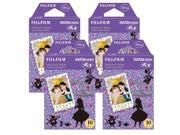 Fujifilm Instax Alice in Wonderland Film Pack Instant Print Mini Cameras 4 Pack