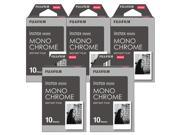 Fujifilm Instax Monochrome Film Pack Instant Print Mini Cameras 5 Pack 50 Sheets
