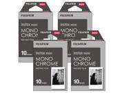 Fujifilm Instax Monochrome Film Pack Instant Print Mini Cameras 4 Pack 40 Sheets