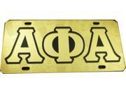 Alpha Phi Alpha Ghost Back Sphinx Head Car Tag License Plate [Gold - Car/Truck]
