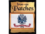"""United States Army 1775 Banner Flag Iron-On Patch [Pack of 2 - White - 2.25"""""""" x 3.5""""""""]"""" 9SIA95B5YH7152"""