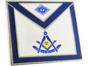 Masonic Past Master Apron Lodge Officer Lapel Pin [Silver - 25.4 mm x 22.4 mm] 9SIA95B5YN4895