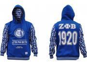 Zeta Phi Beta Divine 9 S2 Pullover Ladies Hoodie [Royal Blue - XL] 9SIA95B5Y10370