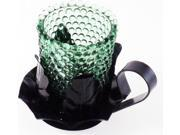 Glass Cup Cut-Out Leaf Design Metal Candle Holder [Pack of 2 - Black/Green] 9SIA95B5YH7582