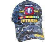 82nd Airborne Division Vietnam Veteran Ribbon Shadow Mens Cap [Navy Digital Camo - Adjustable] thumbnail