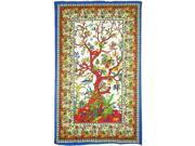 """Tree of Life Twin Size Bedspread Cloth Tapestry [54"""""""" x 86""""""""]"""" 9SIA95B7800465"""