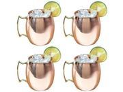 Moscow Mule 100% Solid Copper Mug / Cup - 16 Ounce, Set of 4