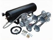 """Viking Horns"" V101C-3/4008 Loud 149 Decibels Train Air Horn Kit, Includes 1.5 Gallon Tank, 150 PSI Heavy Duty Air Compressor and a 4 Trumpet Air Horn"