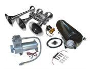"""Viking Horns"" V103C-6-12/311-1 Loud 170 Decibels Train Air Horn Kit, Includes 5 Gallon Air Tank, 200 PSI Heavy Duty 100 Duty Cycle Air Compressor and a 3 Trumpet Air Horn"