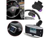 "Portable 3.5mm FM Transmitter Bluetooth FM Modulator Steering Wheel Control 1.5""inch LCD Car MP3 Player - Support SD, MMC, USB w/ Remote Controller Bluetooth Enable Cell Phones"
