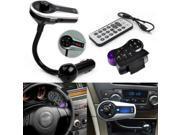 Bluetooth Steering Wheel Handsfree FM Transmitter Hands Free Caling Car Kit MP3 Music Player Radio Adapter Modulator AUX, Flash Disk & SD