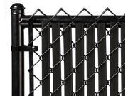 Chain Link Black Double Wall (Tube) Privacy Slat For 4ft High Fence Bottom Lock