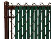 Chain Link Green Double Wall (Tube) Privacy Slat For 4ft High Fence Bottom Lock