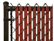 Chain Link Redwood Double Wall Tube™ Privacy Slat For 4 High Fence Bottom Lock