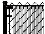 Chain Link Gray Double Wall (Tube) Privacy Slat For 5ft High Fence Bottom Lock
