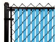 Chain Link Sky Blue Double Wall Tube™ Privacy Slat 6ft High Fence Bottom Lock