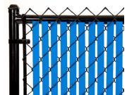Chain Link Royal Blue Double Wall (Tube) Privacy Slat 7ft High Fence Bottom Lock
