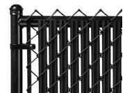 Chain Link Black Single Wall Ridged Privacy Slat For 3ft High Fence Bottom Lock
